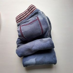 Mini Boden Track Sweat Pants 5 Blue Camo